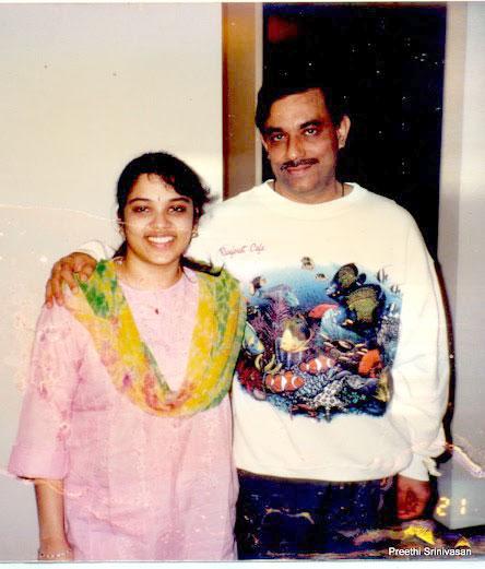 Preethi Srinivasan with her father