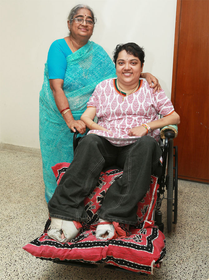 Srinivasan with her mother