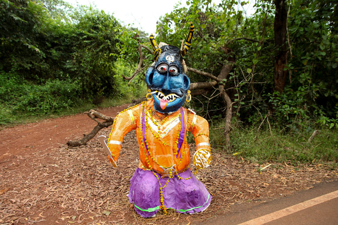 An effigy of Narkasura