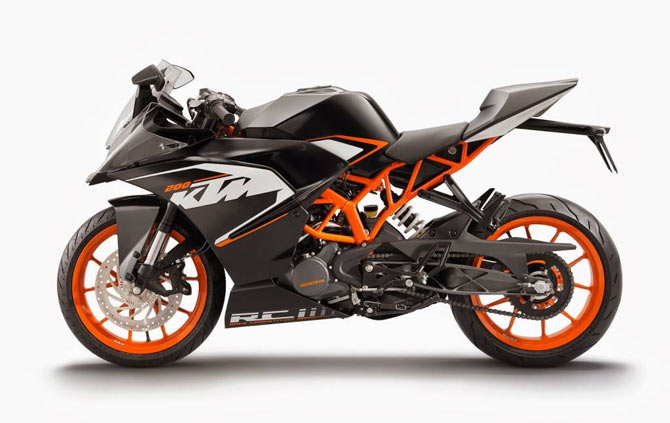 ktm rc 200 to be launched in india for rs 1.16 lakh - rediff getahead
