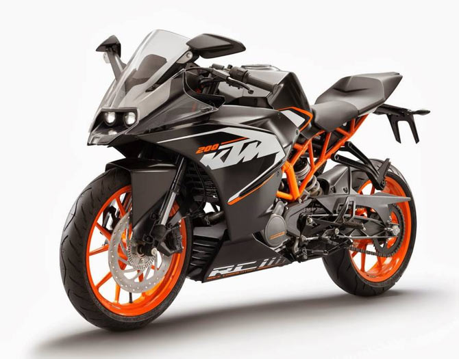 Ktm Rc 200 To Be Launched In India For Rs 1 16 Lakh