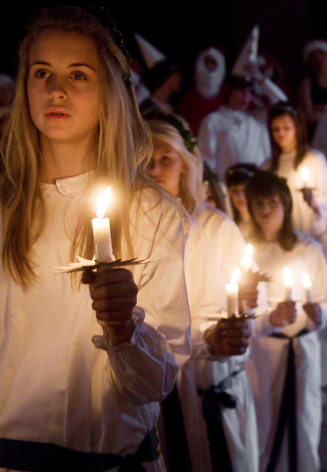 Saint Lucia's Day parade in Sweden