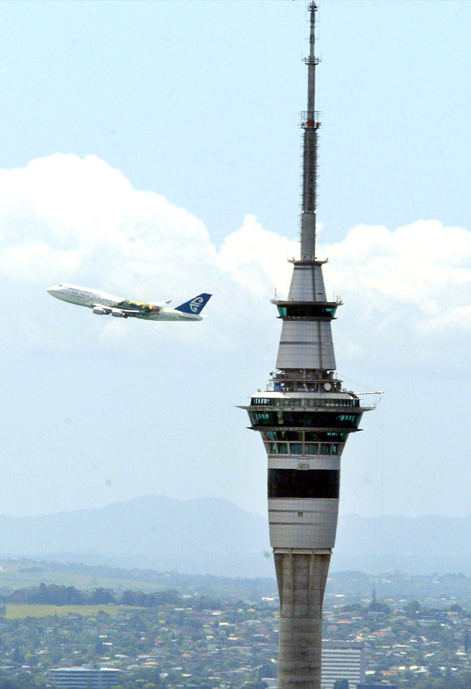Sky Tower, New Zealand; Image for representational purposes only