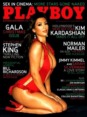Kim Kardashian on the cover of Playboy