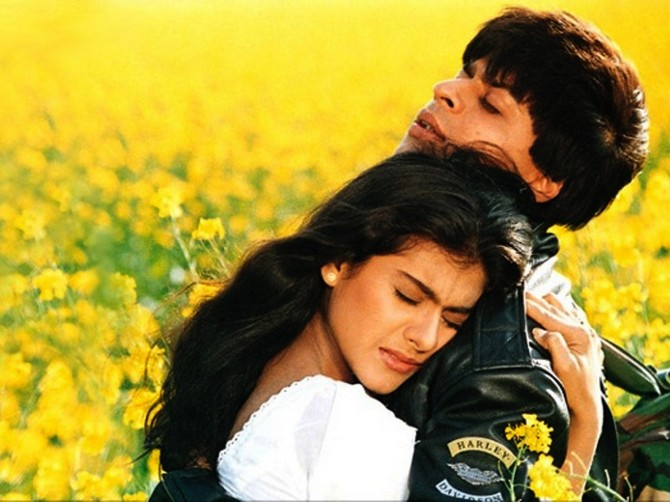 Shah Rukh Khan and Kajol in Dilwale Dulhania Le Jayengey