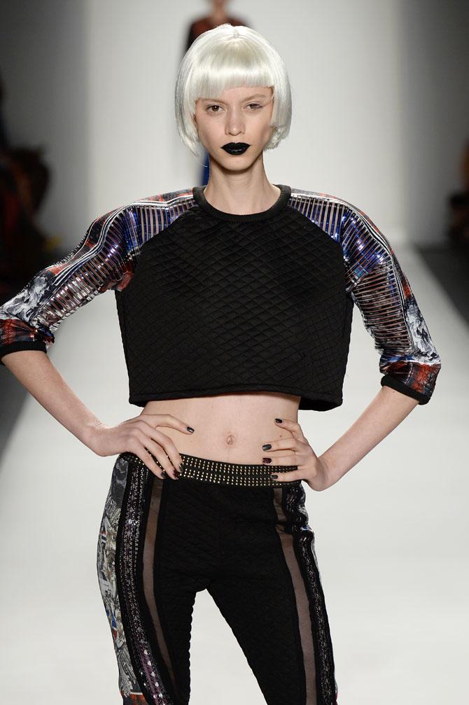 Paris Hilton glams Falguni & Shane's show at NY Fashion Week