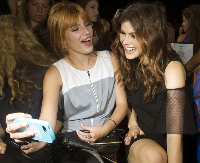 Bella Thorne (L) and Alexandra Daddario