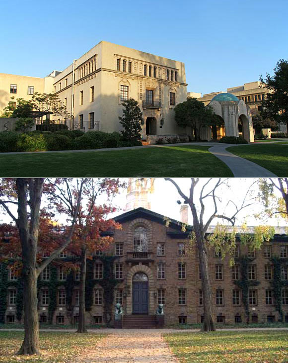 Caltech (above) and Princeton University (below)