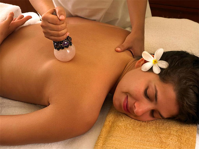 Crystal Therapy at the spa facility in ITC Grand Central, Mumbai