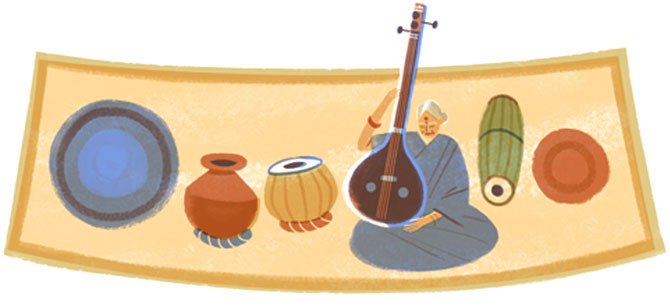 MS Subbulakshmi has been commemorated with a doodle on her 97th birth anniversary.