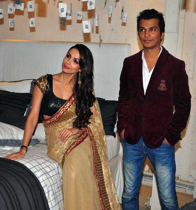 Malaika Arora Khan along with designer Vikram Phadnis
