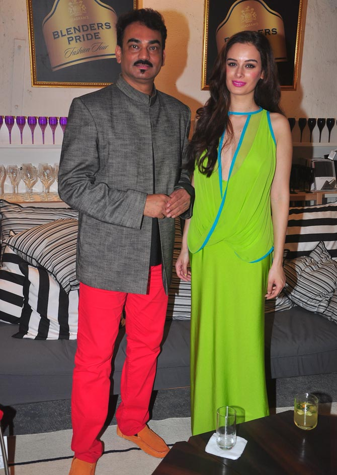 Wendell Rodricks with Evelyn Sharma