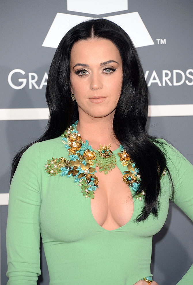 Singer Katy Perry arrives at the 55th Annual Grammy Awards at Staples Center on February 10, 2013 in Los Angeles, California