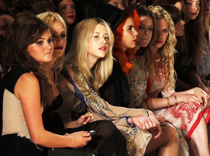 Starry eyed: Celeb spotting at the London Fashion Week