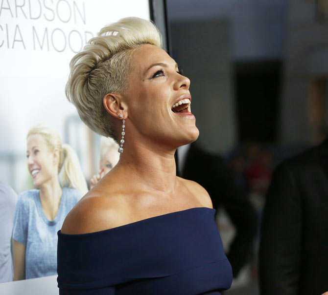 Alecia Moore, also known as Pink, at the premiere of her film Thanks for Sharing
