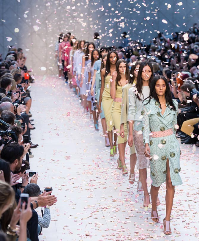 The Burberry Prorsum show at London Fashion Week SS14, September 16, 2013, kept the British fashion flag flying high.