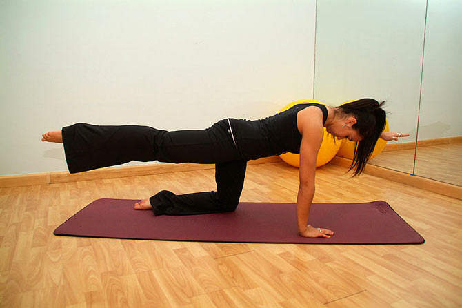 Pilates exercises help have a strong core.
