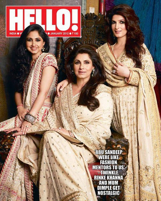 Dimple Kapadia is seen here flanked by her daughters Rinkie and Twinkle