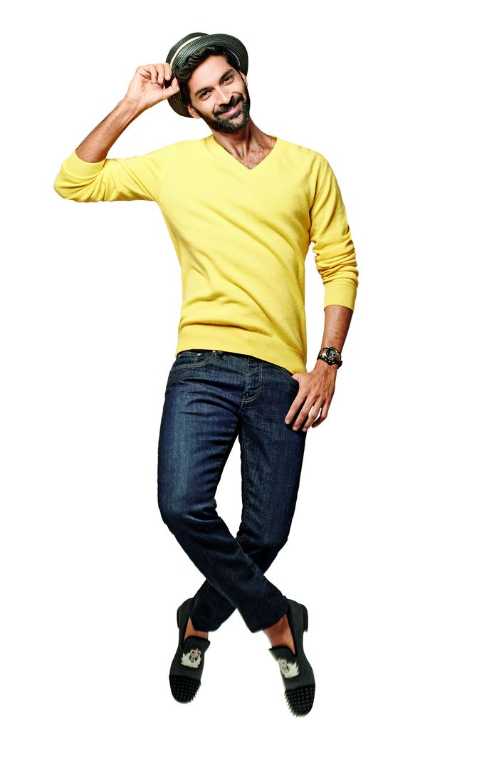 Start with a simple v-neck jumper if you're uncomfortable wearing yellow.