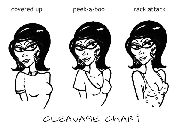 Cleavage alert! How desperate are you?