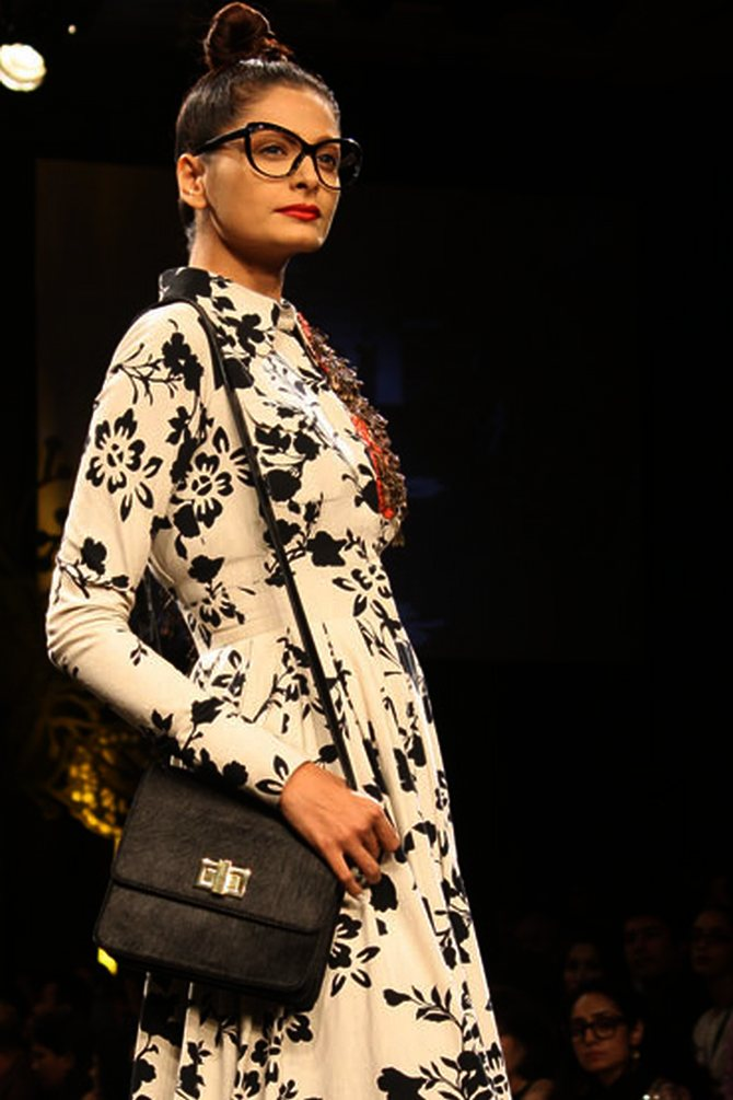 A Sabyasachi creation, part of the Save the Tiger campaign, shown at Lakme Fashion Week in March 2011