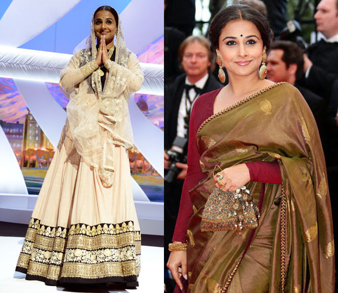 Vidya Balan received a lot of flak for her Cannes outfits that Sabyasachi designed.