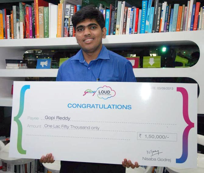 Gopi Reddy is one of the eight winners of Godrej LOUD this year