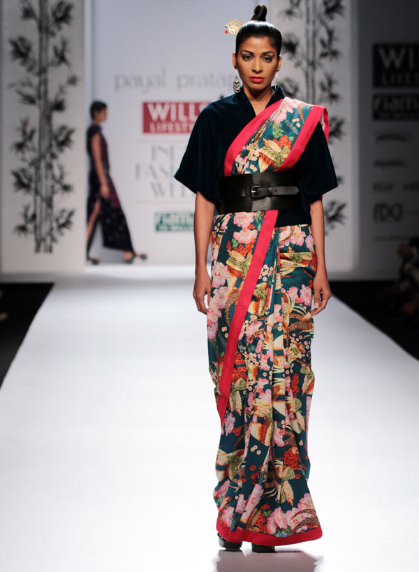 A model in a Payal Pratap creation
