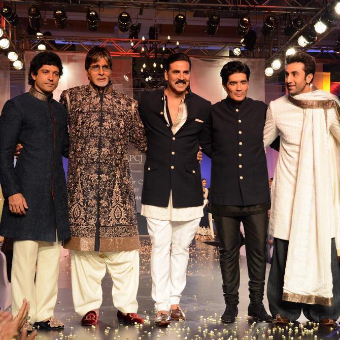 Farhan Akhtar, Amitabh Bachchan, Akshay Kumar, Manish Malhotra and Ranbir Kapoor