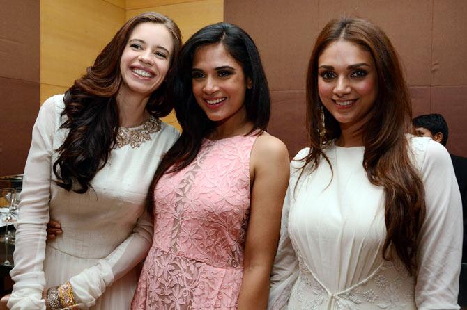 (L-R) Kalki Koechlin, Richa Chaddha and Aditi Rao Hydari