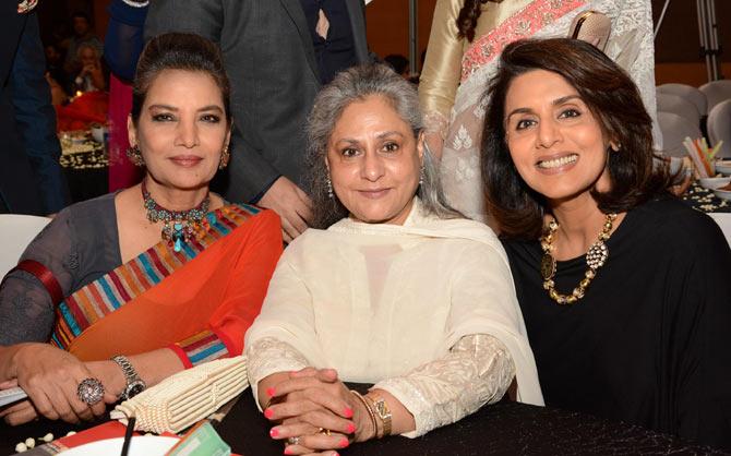 (L-R) Shabana Azmi, Jaya Bachchan and Neetu Kapoor