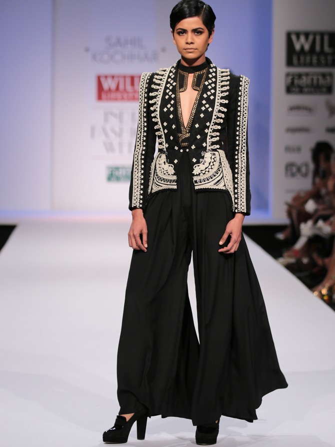 A model in a Sahil Kochar creation