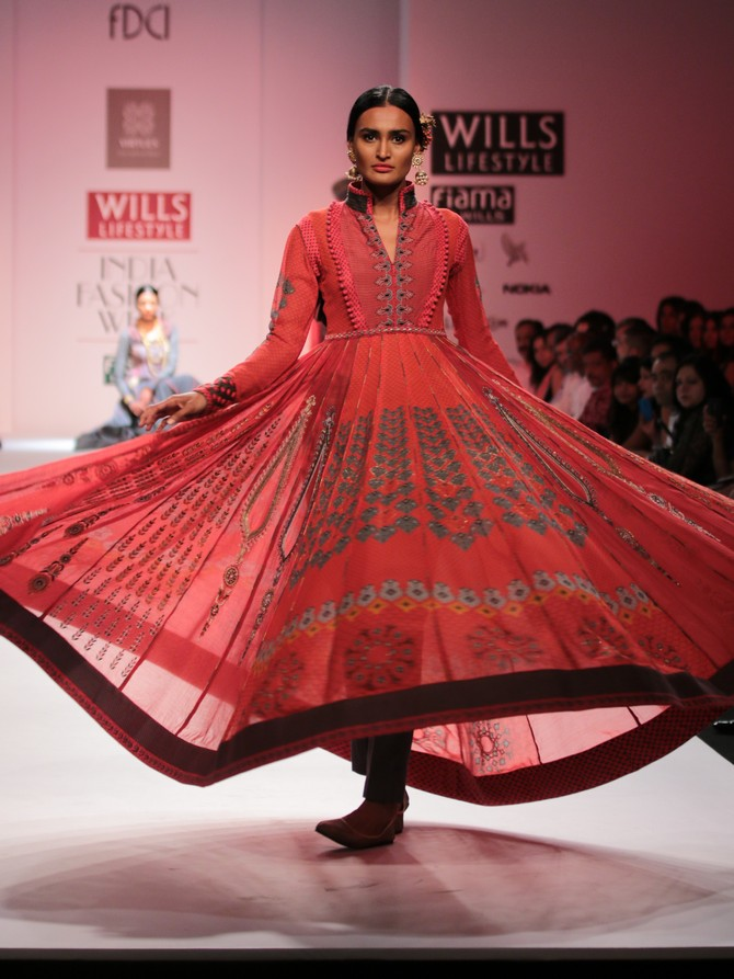 A model in an Ashish Viral Vikrant creation