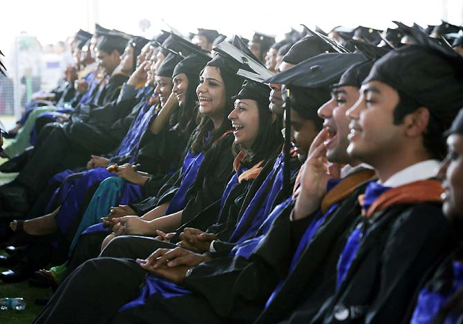 Graduating students of Class of 2014 at ISB Hyderabad.
