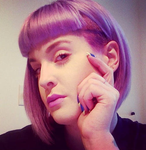 Kelly Osbourne sports her new hairdo.