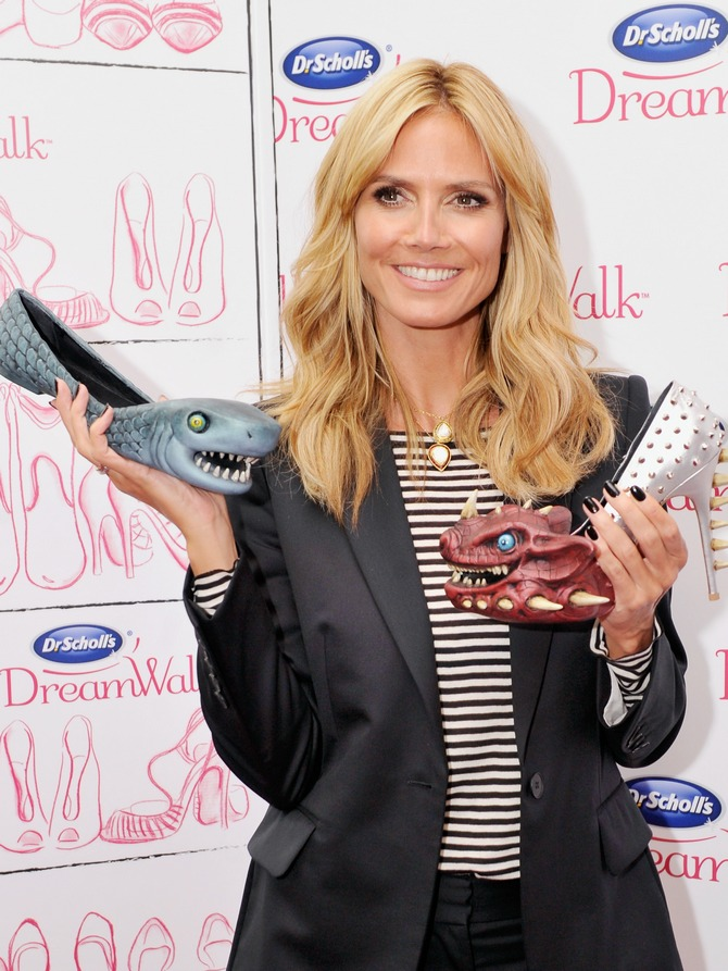 Heidi Klum attends the Dr. Scholl's DreamWalk Line Launch at Gansevoort Park Avenue in New York City.