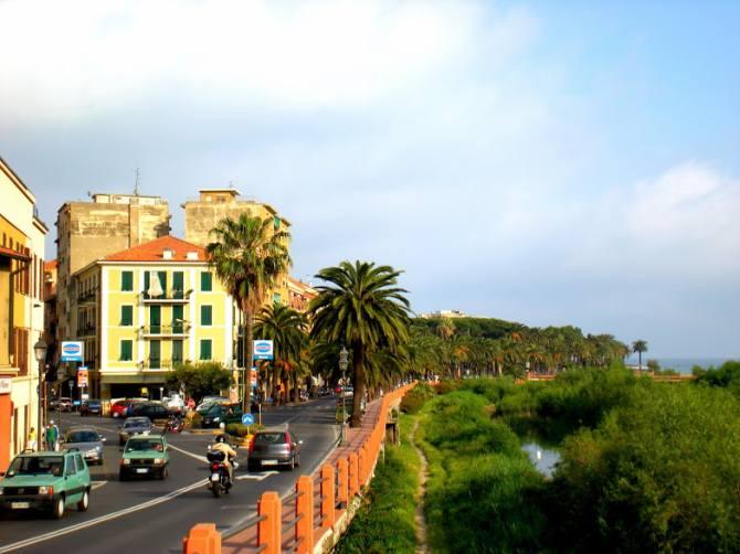A tourist spot in Ventimiglia, Italy