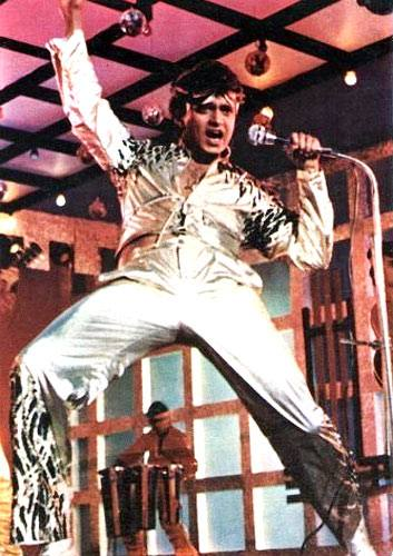 Mithun Chakraborty in a still from Disco Dancer