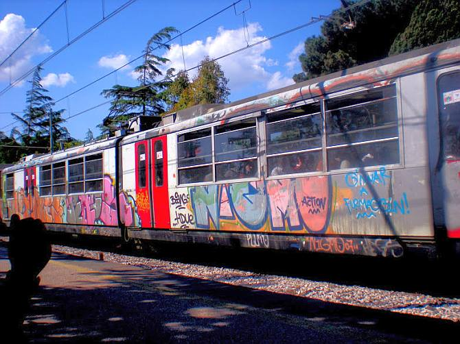 The colourful trains of Italy