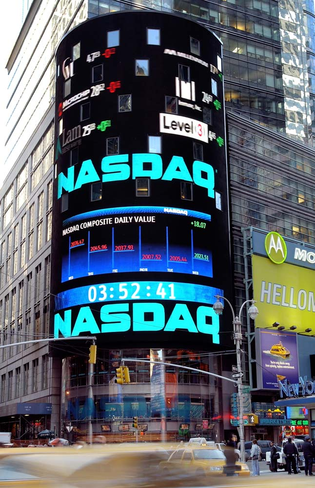 The NASDAQ stock exchange where ADRs issued by many Indian companies are traded