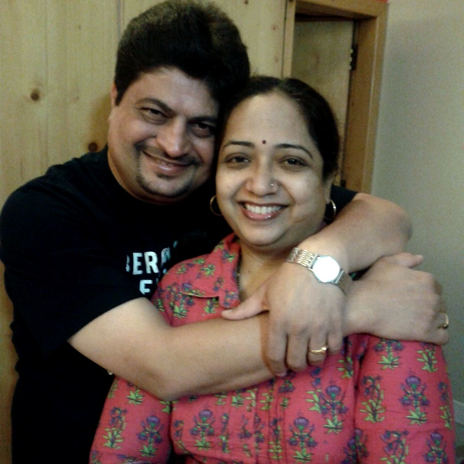 Mukesh Nautiyal and his wife