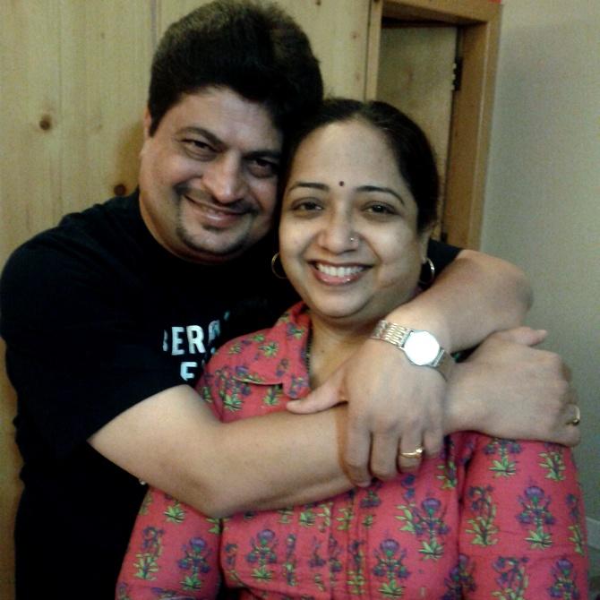 Mukesh Nautiyal and his wife