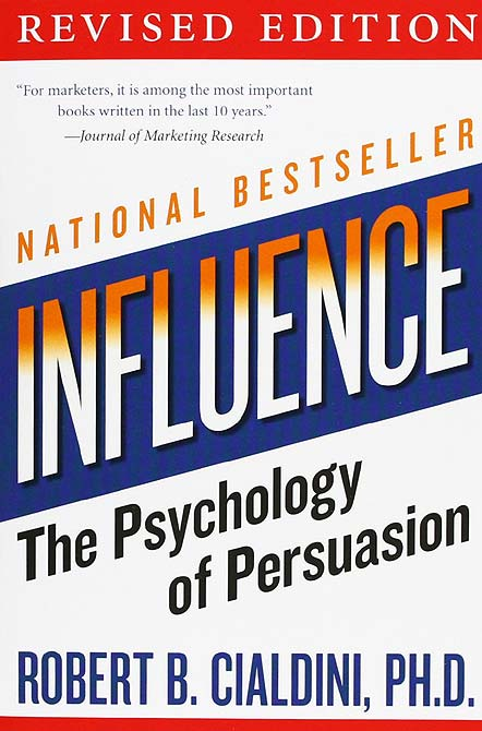 Book cover of Influence: The Psychology of Persuasion