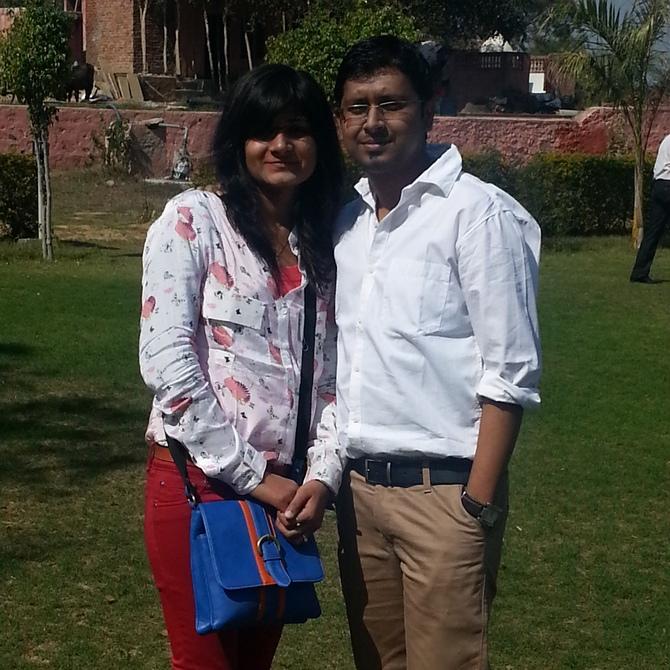 Mala Aggarwal with Atanu Senapati
