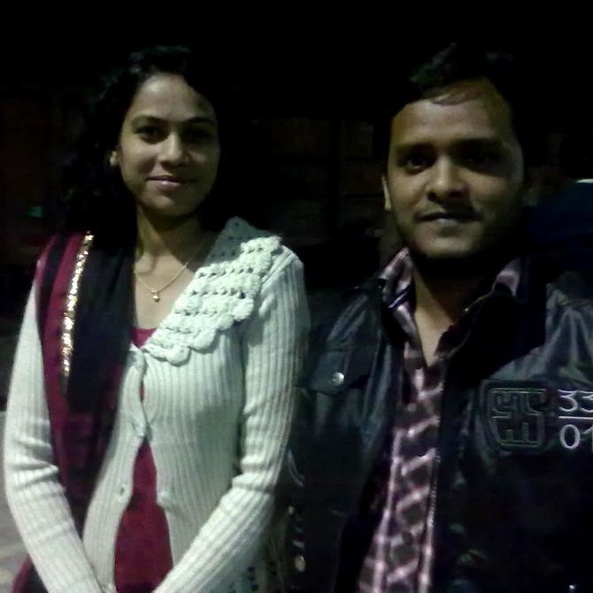 Neha Potle with Ravitosh Mishra