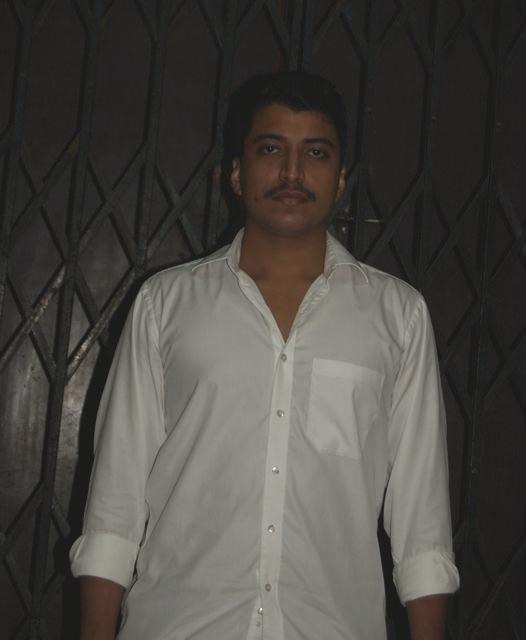 Author and Congress volunteer Rahul Kamerkar at Tilak Bhawan, Congress's office at Elphinstone Road, Mumbai