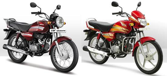 Hero MotoCorp HF Dawn and HF Deluxe