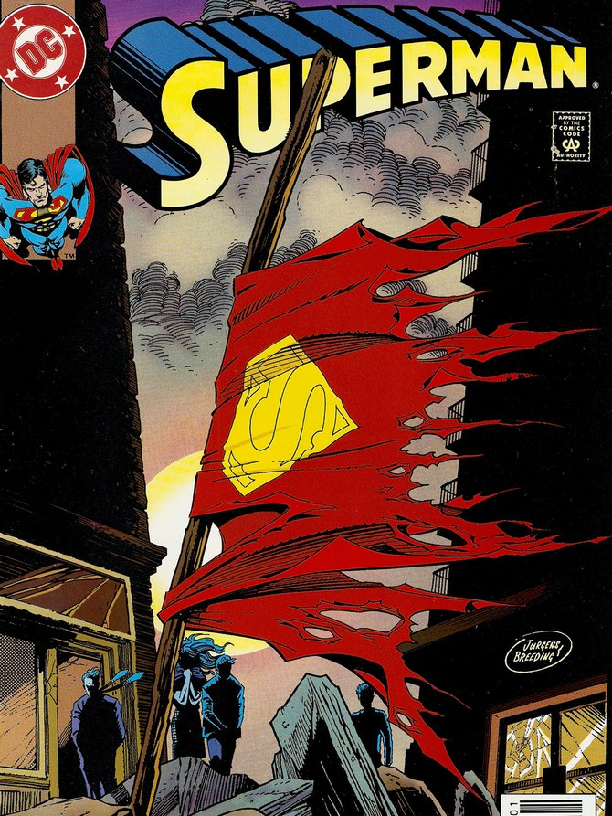 In what year did the comic <i>Death of Superman</i> appear?