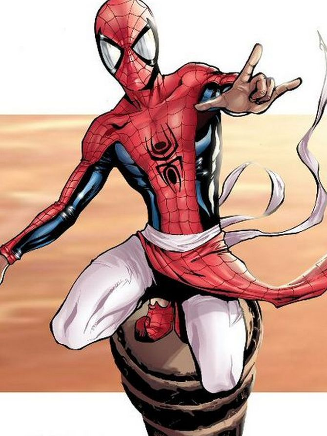Spider Man was retold in an Indian setting. What was Peter Parker's character in it called?