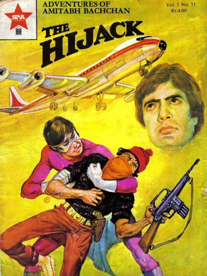 Amitabh Bachchan was immortalised as a popular comic book series hero. What was he called?